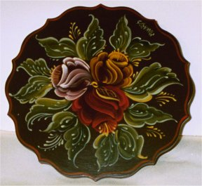 Six Inch Rose Plate