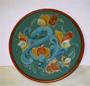 Eight Inch Blue Plate with Rim